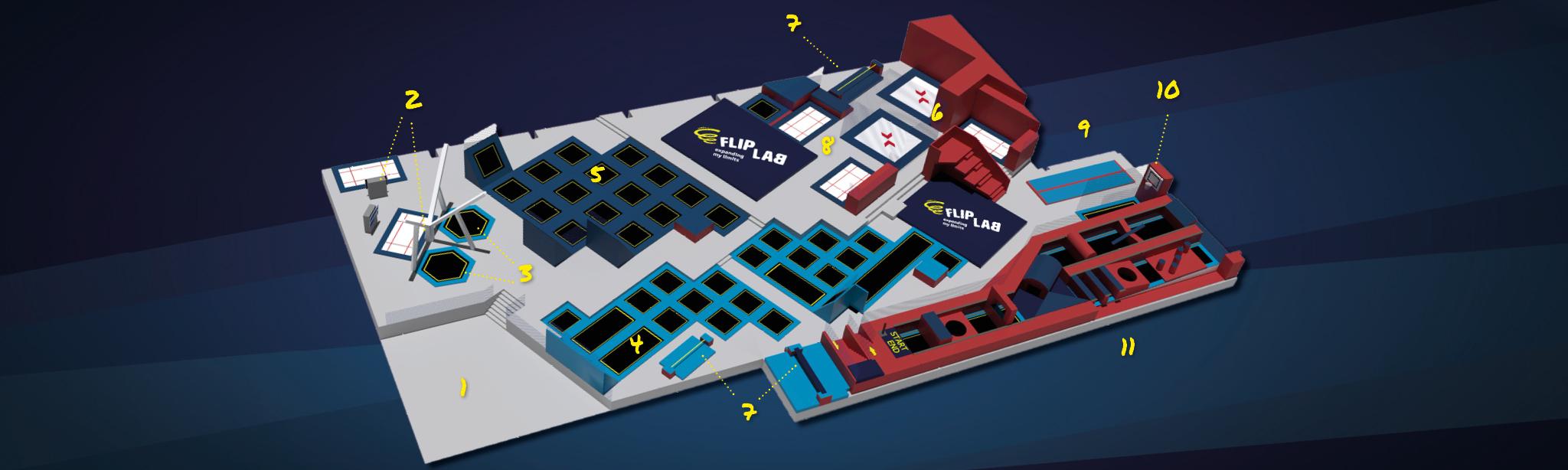 Hallenübersicht-mit-Zones-und-Areas---FLIP-LAB-Innsbruck