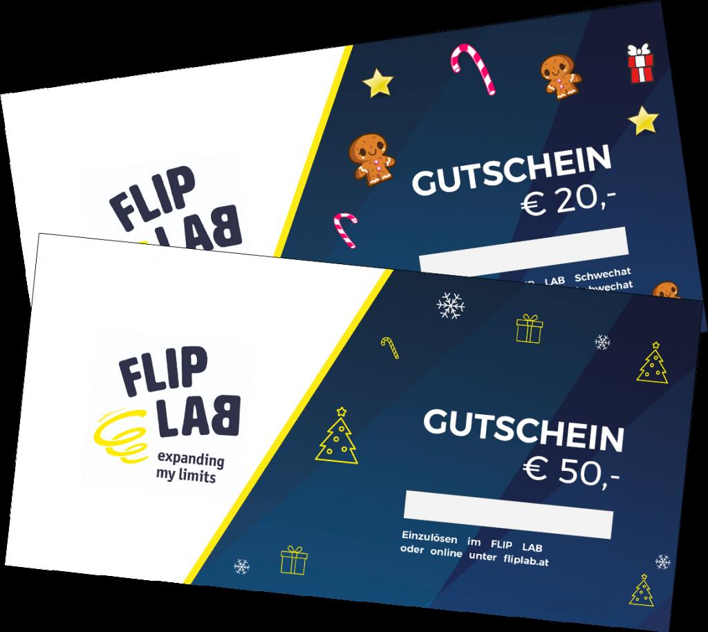 Gutscheine Weihnachtsgeschenk - FLIP LAB Innsbruck
