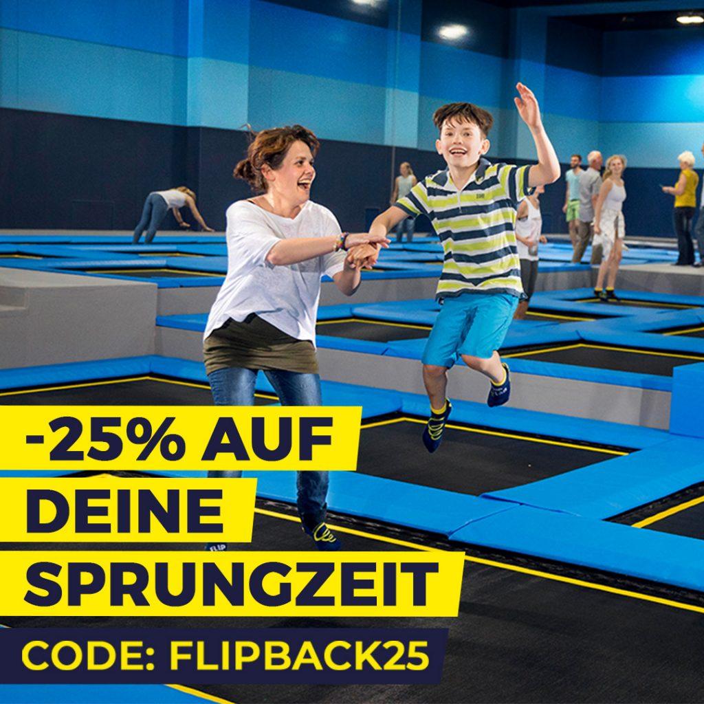 Wiedereröffnung -25% auf FlipTime - FLIP LAB Schwechat