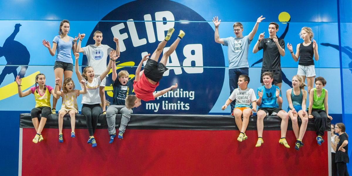 Trampolin Springen Kinder Wien - FLIP LAB Vienna